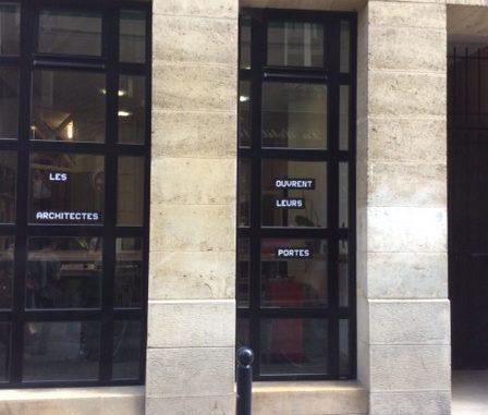 La façade de l'agence de Michel Mog